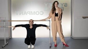 Costume collaborators ... Spender with Sydney Dance Company's Rafael Bonachela.