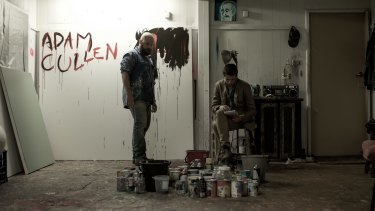 Adam and Erik (Daniel Henshall and Toby Wallace) in Acute Misfortune.