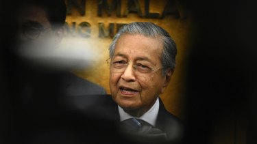 The comment by former Malaysian prime minister Mahathir Mohamad was removed by Twitter after it was found to glorify violence.