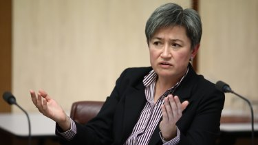 Senator Penny Wong, who has thrown her support behind Katy Gallagher.