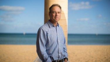 Greg Hunt on Mount Martha beach.