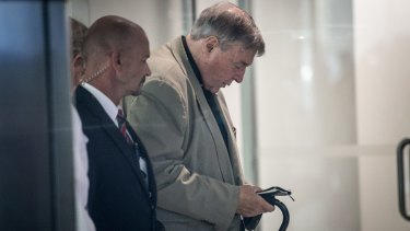 Cardinal George Pell after being found  guilty of historic sexual offenses.