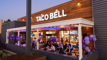 The Taco Bell restaurant in the Brisbane suburb of Annerley.