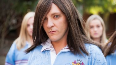 Chris Lilley playing one of his most successful creations, private school girl Ja'mie King.