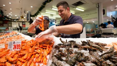 The Sydney Fish Markets will be open for 36 hours from 5am December 23 to 5pm December 24.