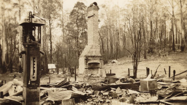 Burnt out Post Office at Narbethong