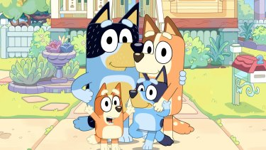 The characters in the animated hit Bluey.