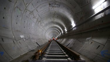 Work on the fit out of the tunnels for the metro line has been halted due to safety concerns.