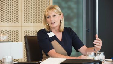 Karen Penrose at a Fairfax & KPMG Rebuilding Corporate Trust Round Table lunch at KPMG in Melbourne.