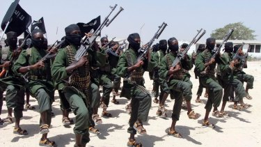 Newly trained al-Shabab fighters in Somalia in 2011.