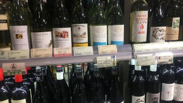 Australian wine on sale in Shanghai ... it is currently tariff-free while US wines a subject to a 40 per cent tariff in China. Is that advantage about to be lost?