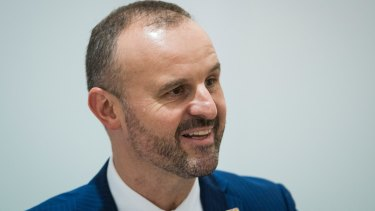 Andrew Barr has previously said the government is against any federal laws that would lock in discriminatory  practices.