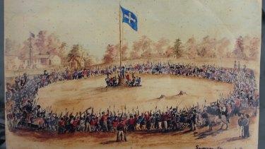 A painting of the Eureka Stockade.