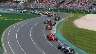 Australian F1 grand prix in Melbourne.