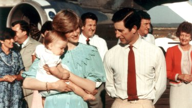 Princess Diana, Prince Charles and Prince William in Alice Springs in March 1983.
