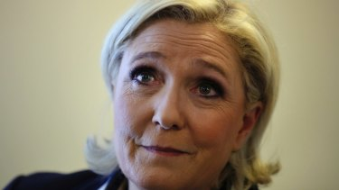 French far-right politician Marine Le Pen.