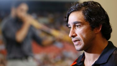Johnathan Thurston promotes the Indigenous All Stars concept.