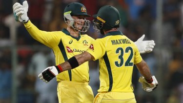 Shake-up: Peter Handscomb (left) will make his debut but Glenn Maxwell is not a certainty.