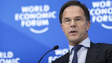 Dutch PM Mark Rutte is visiting Australia for two days, spending a day in Melbourne.