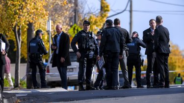Police at the scene of the Brighton siege - an act of terror that ended in an innocent man murdered and gunman Yacqub Khayre killed.
