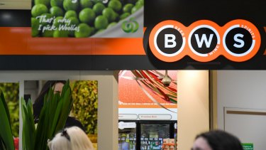 BWS stores are comprehensively integrated into Woolworths locations, a headache for the company's demerger team.
