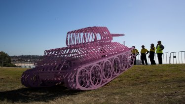 David Cerny's Pinktank Wrecked was one of the artworks shown at last year's Sculpture by the Sea.
