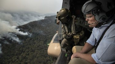 The Prime Minister tours the bushfire-affected regions of the Blue Mountains  in late December 2019.