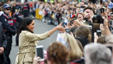 Meghan, Duchess of Sussex, meets the ordinary folk of Melbourne.