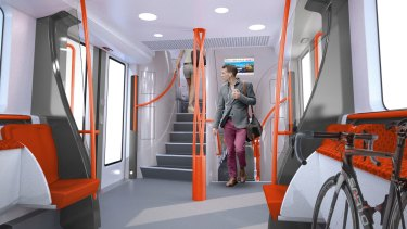 An artist's impression of the interior of a  new intercity train.