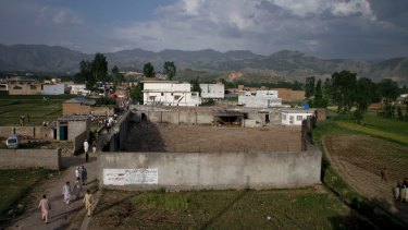 The exterior of the three-storey Abbottabad compound where Osama bin Laden was killed.
