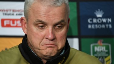 Gone: Panthers coach Anthony Griffin was sacked a month before the finals.
