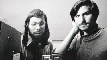 Apple founders Steve Wozniak and Steve Jobs in 1976.