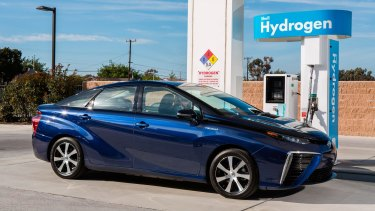 The Toyota Mirai - one of the hydrogen cars currently on the market, in Japan at least.