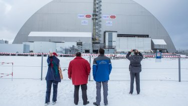 The control room at Chernobyl's reactor four is being opened to the public.
