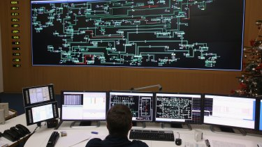 A technician monitors the eastern German electricity transmission grid in Berlin. Germany has declared the ambitious goal of 80 per cent renewable energy by 2050.