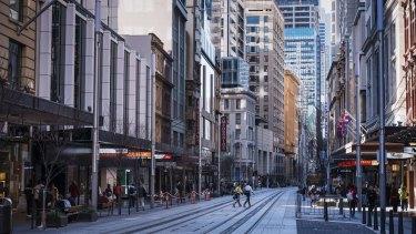 Sydney CBD was relatively empty during lockdowns.