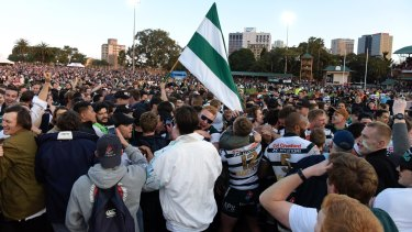 Grassroots: Close to 16,000 fans packed into North Sydney Oval for the 2017 Shute Shield final.
