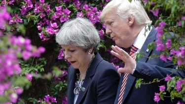 Unrealistic agendas: British Prime Minister Theresa May and US President Donald Trump.