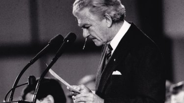 Bob Hawke, delivering an emotional speech at a memorial service for victims of the Tiananmen Square massacre in 1989, offered asylum to Chinese students in Australia.