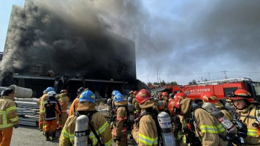 Thirty-eight workers were killed in a fire that broke out at a warehouse construction site.
