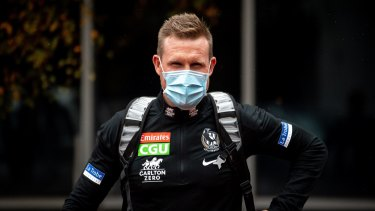 Over and out: Collingwood icon Nathan Buckley.