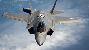A Joint Strike Fighter aircraft designed by Lockheed Martin: The US military relies on rare earths metals for its weaponry.