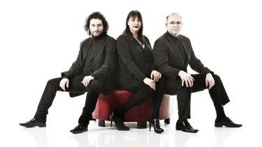 Plexus: Stefan Cassomenos, Monica Curro and Philip Arkinstall.