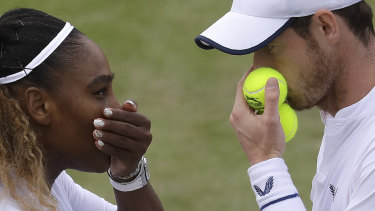 Serena Williams says playing mixed doubles with Andy Murray at Wimbledon has helped her singles game.