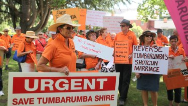 Residents in Tumbarumba have gone to the Border Commsission seeking a demerger.