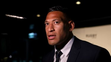 Controversial: Wallabies and Waratahs star Israel Folau.