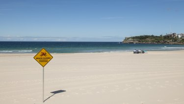 Bondi Beach is closed due to the coronavirus lockdown.