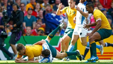 Finisher: Drew Mitchell in action for the Wallabies during the 2015 Rugby World Cup.