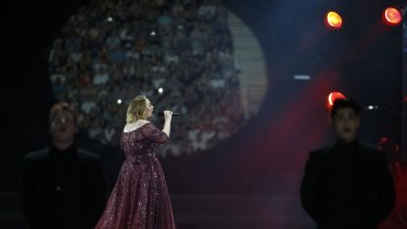 Adele performs at the Gabba in March 2017.