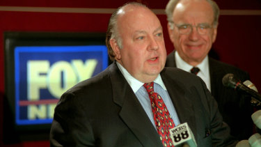 Roger Ailes (left), the now-deceased former Fox News chief, is the subject of the film Fair and Balanced.